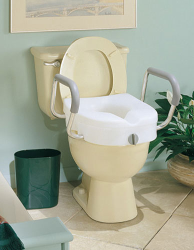 Carex E Z Lock Raised Toilet Seat With Adjustable Handles