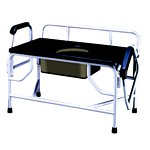 Extra Wide Bariatric Drop Arm Bedside Commode